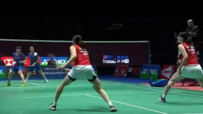 Pertarungan Chen/Jia vs Mayu/Wakana di final All England Open 2019.