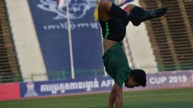 Pemain Timnas Indonesia U-22, Nurhidayat Haji Haris.