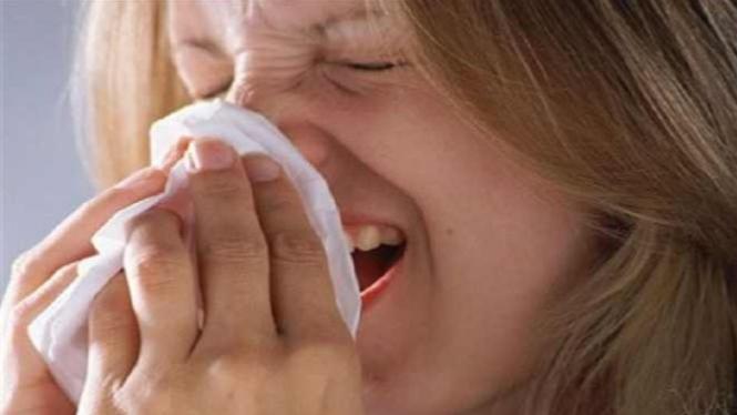 Bersin-bersin akibat sakit flu
