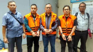 Tiga koruptor yang akan menjalani pidana penjara di Sukamiskin, Bandung, Jawa Barat.