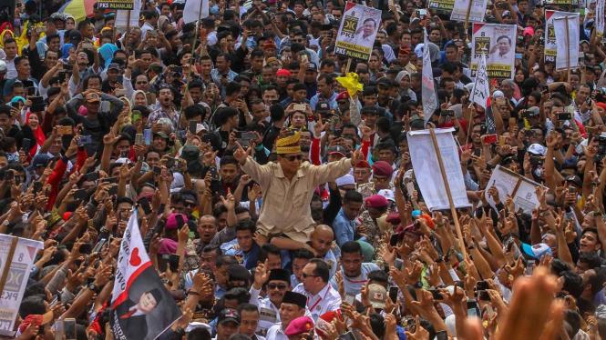 Kampanye Prabowo Subianto di Pekanbaru