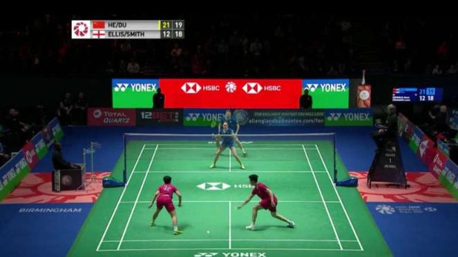 Marcus Ellis/Lauren Smith vs He Jiting/Du Yue di babak 32 besar All England.