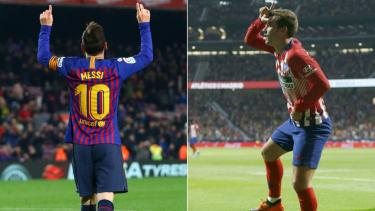 Selebrasi unik Lionel Messi dan Antoine Griezmann