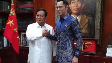 AHY temui Prabowo Subianto