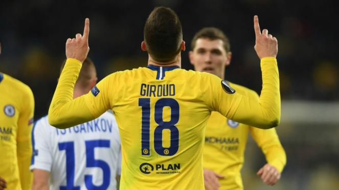 Bomber Chelsea, Olivier Giroud cetak hattrick di pentas Europa League