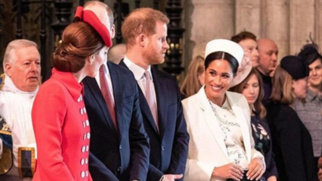 Kate Middleton-William dan Meghan Markle-Harry di Westminster Abbey