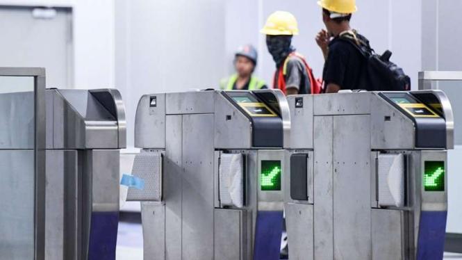Pintu masuk MRT Jakarta