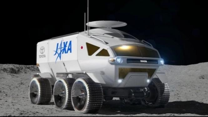 Kendaraan penjelajah bulan.