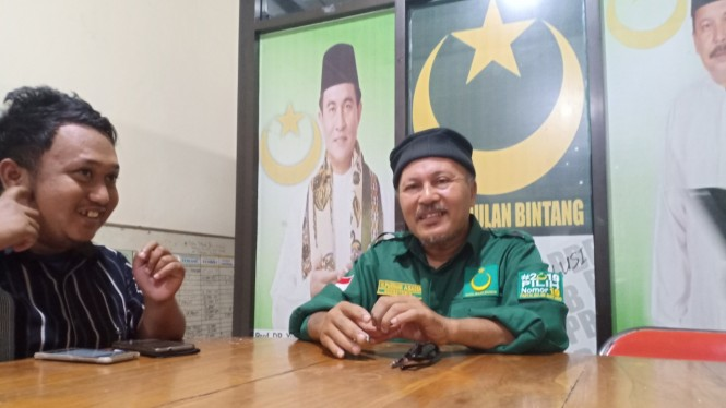 Sekretaris Dewan Pimpinan Pusat PBB Sulawesi Selatan, Purnama Irianto Asadiah, saat ditemui di kantornya di Makassar, Jumat, 15 Maret 2019.