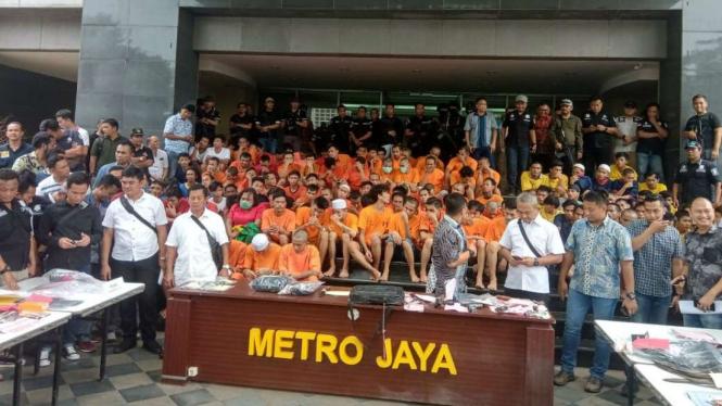 186 begundal jalanan dicokok Polda Metro Jaya dalam lima hari.