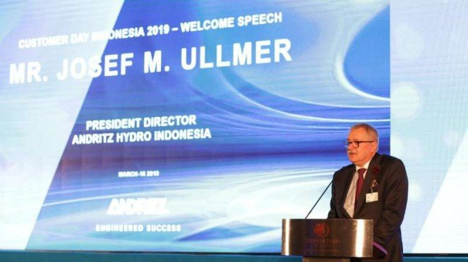 Direktur Utama Andritz Hydro, Josef M Ullmer.