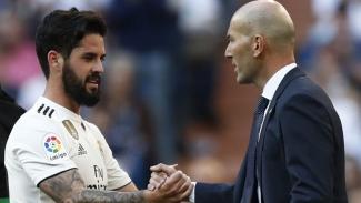 Zinedine Zidane dan Isco saat Real Madrid kalahkan Celta Vigo