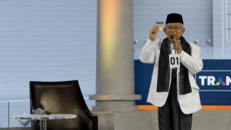 Debat Ketiga Cawapres Pilpres 2019, Ma'ruf Amin