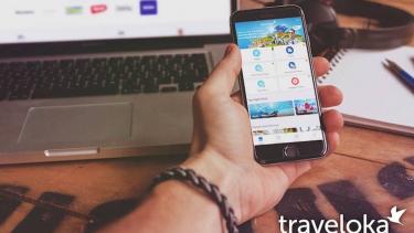 Ilustrasi Traveloka App.