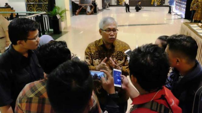 Kepala BPIW pada Kementerian PUPR, Hadi Sucahyono, dalam Konsultasi Regional Tahun 2019 wilayah Jawa dan Bali, di IPB Internasional Convention Center, Bogor, Jawa Barat, Senin, 18 Maret 2019.