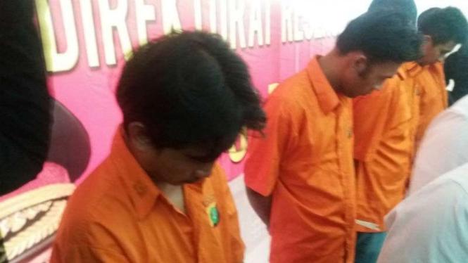 Pelaku pembajakan mobil tangki Pertamina diamankan petugas Polda Metro Jaya.
