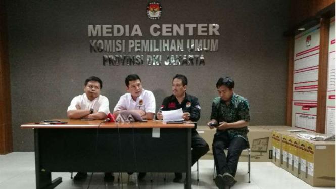 Konferensi pers KPU DKI Jakarta