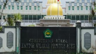 Gedung Kantor Wilayah Kementerian Agama Aceh di Banda Aceh.