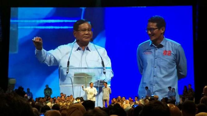 Prabowo dan Sandiaga di Djakarta Theater