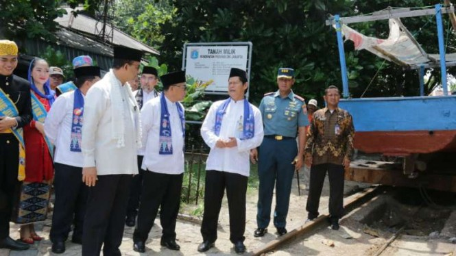 Gubernur DKI Jakarta Anies Baswedan di Kepulauan Seribu, Jumat, 22 Maret 2019.
