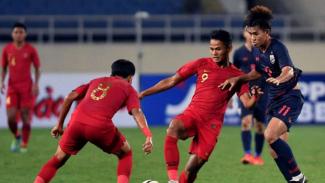 Duel Timnas Indonesia U-23 vs Thailand.