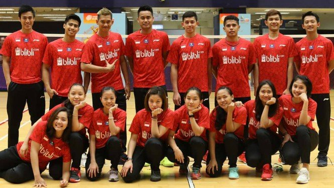 Tim Indonesia di ajang Badminton Asia Mixed Team Championships 2019