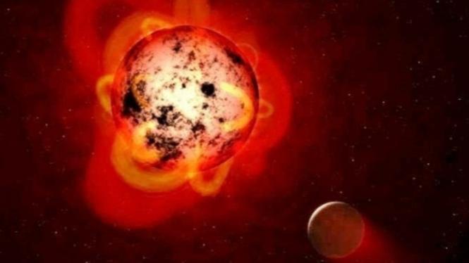 Proxima Centauri, bintang katai merah.