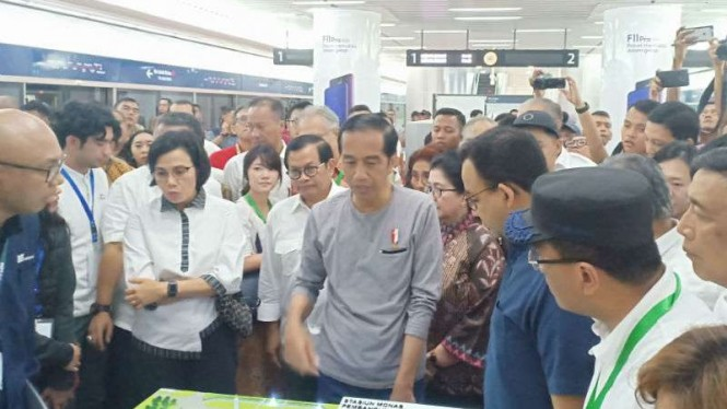 Presiden Joko Widodo meresmikan MRT Jakarta