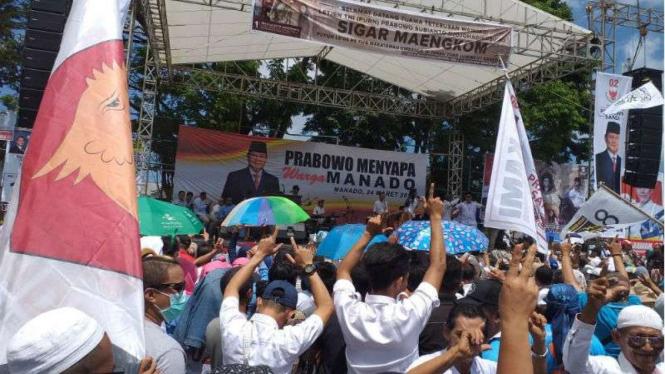 Prabowo kampanye akbar di Manado
