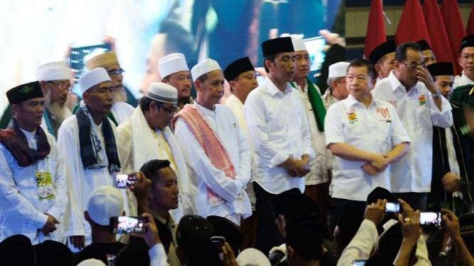 Capres 01 Joko Widodo saat kampanye di Banten