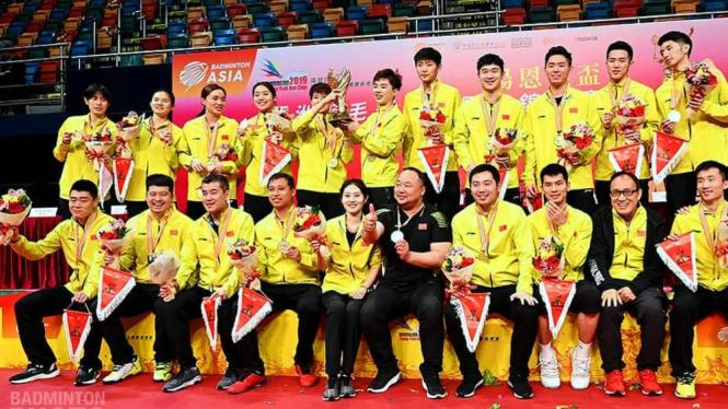 Tim bulutangkis China puncaki podium Badminton Asia Mixed Team Championship 2019