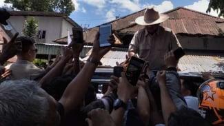 Prabowo Subianto saat kampanye di Manado, Minggu 24 Maret 2019.