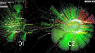 Peta analisis percakapan 'militan' Drone Emprit