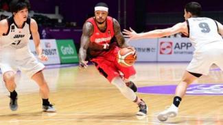 Timnas Basket Putra RI vs Jepang.