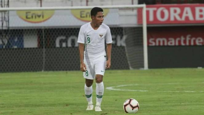 Gelandang timnas Indonesia, Evan Dimas Darmono
