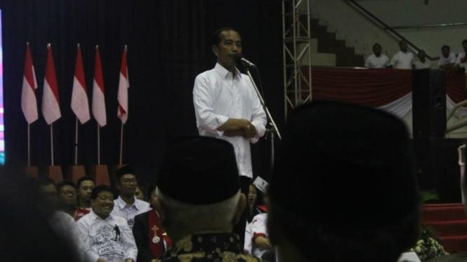 Capres petahana Jokowi di Malang