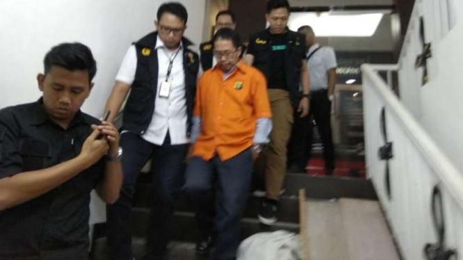 Tersangka kasus perusakan barang bukti terkait pengaturan skor, Joko Driyono.