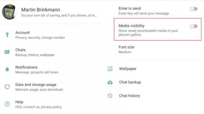 Tips pengaturan WhatsApp