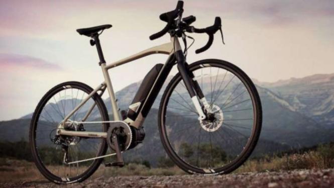 Sepeda listrik Yamaha.