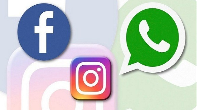 Ilustrasi Whatsapp, Instagram dan Facebook.