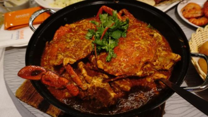 Chili Crab di Jumbo Seafood Gallery