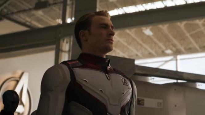 Captain America di Avengers: Endgame.