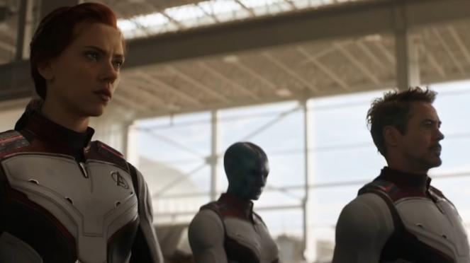 Black Widow, Nebula, Iron Man di Avengers: Endgame