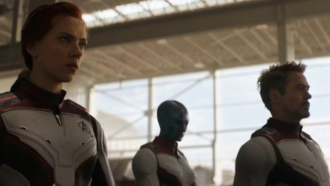 Black Widow, Nebula, Iron Man di Avengers: Endgame
