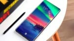Gambar render Galaxy Note 10