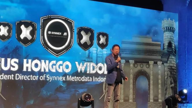 Presiden Direktur PT Synnex Metrodata Indonesia, Agus Honggo Widodo.