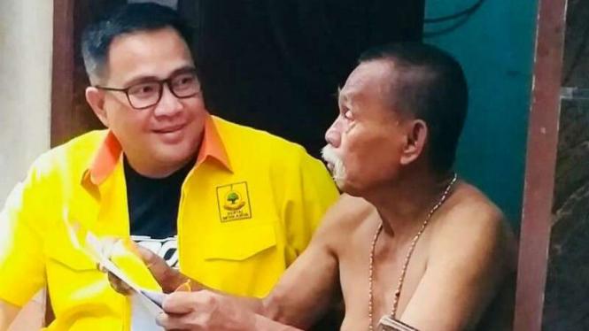 calon legislatif (caleg) Partai Berkarya, Hence Carlos Kaparang.