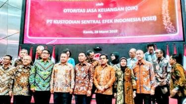 Pembukaan Perdagangan Bursa Efek Indonesia oleh OJK dan KSEI
