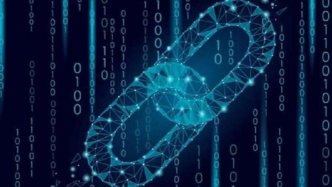 Ilustrasi teknologi Blockchain.
