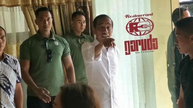 Capres petahana Jokowi di Menteng